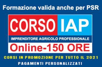 IMPRENDITORE AGRICOLO PROFESSIONALE - ONLINE (IAP) riconosciuto REGIONE LAZIO